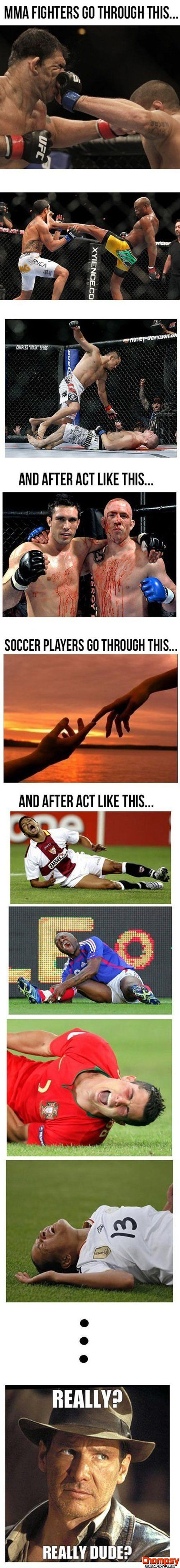 Funny Pictures Fighters vs. Soccer Players