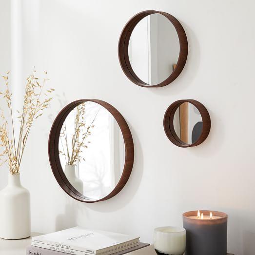 Wood Mirror Wall Decor, Round Mirror Wall Decor Wood