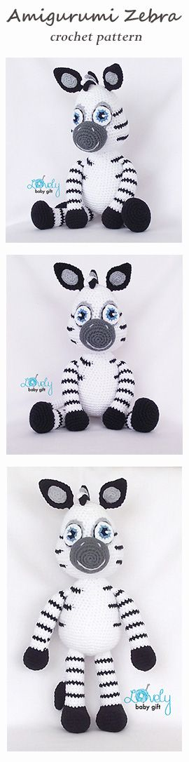 Amigurumi Pattern - Crochet Zebra pattern, amigurumi animal https://www.etsy.com/listing/385925574/amigurumi-pattern-zebra-animal-crochet?ref=shop_home_active_1