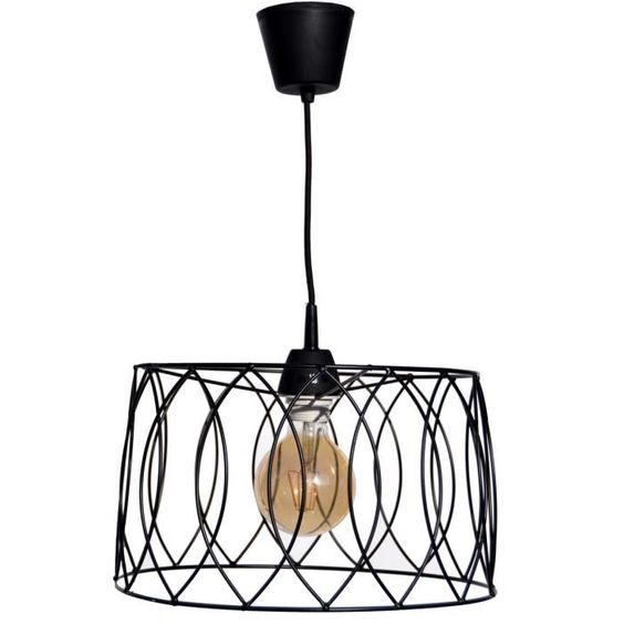 LUSTRE ET SUSPENSION Suspension Jarvis cage ˜40 cm noir