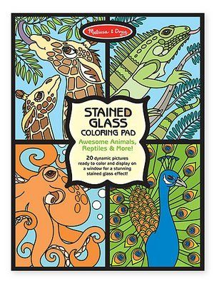 Melissa and Doug- Boys Coloring and Sticker Pad Bundle by Melissa and Doug. $16.99. Make a Face crazy creatures sticker pad- 4+, over 160 stickler to use on 20 different backgrounds.. Habitats reusable sticker pad- 3+, over 150 stickers that can be repositioned!. Includes boy themed art activities.. Stained glass coloring pad (Animals, Reptiles and more)- 4+, twenty unique pages bound in a handy pad tear out cleanly to display.. Habitats reusable sticker pad: Vis...