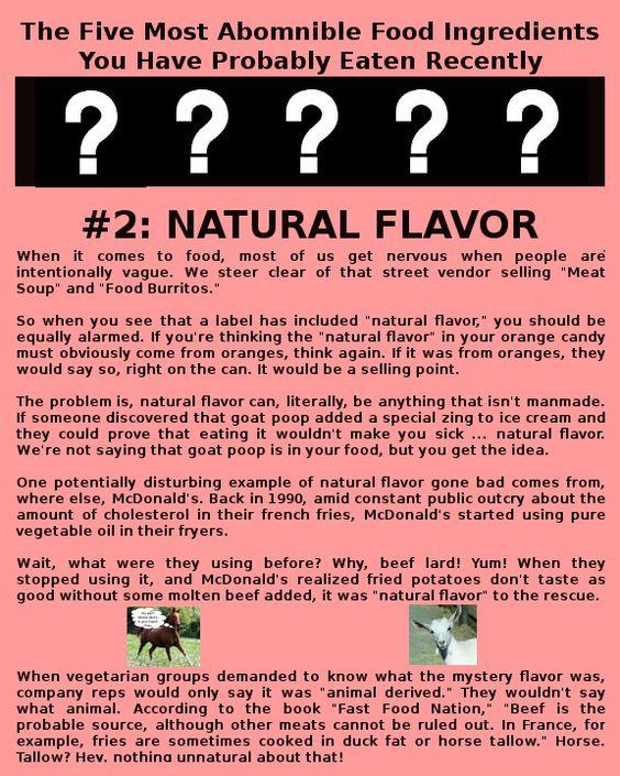 Horrifying food ingredients #2.