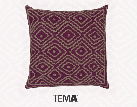 How about a wool accented pillow to welcome in the Fall? This magenta masterpiece is sure to warm your home and your heart. Order now at TEMA: http://ow.ly/SxOtO #throwpillowthursday #TPT
