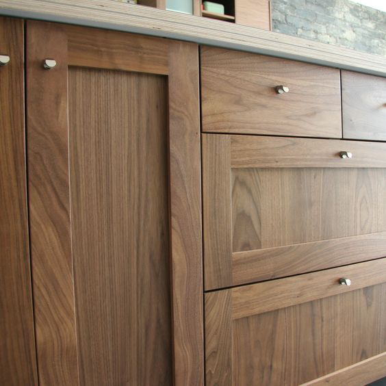 Kitchen Cabinets Ideas walnut shaker kitchen cabinets : Detail shot of Semihandmade Walnut Shaker Ikea Kitchen ...