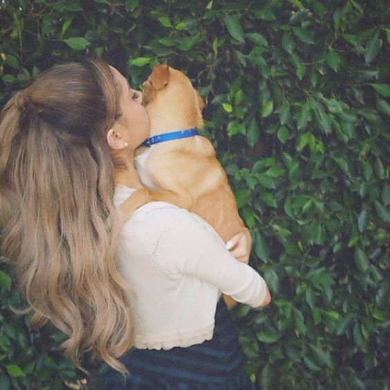 Ariana Grande's dog stole our heart at a Coach event.