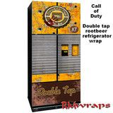 Call of duty Double tap Root beer Full refrigerator wrap man cave idea, gamers - Rm wraps Store - 1