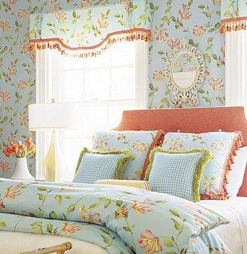 Thibaut papel de pared y textil combinado en este - Textil dormitorio ...