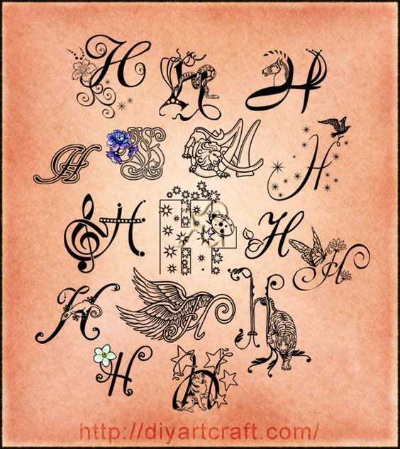 Tattoo Designs Of Letter A: Imaginative Typography