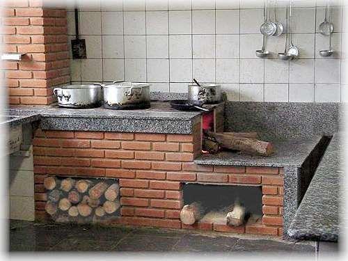 Cocina De Lena Moderno Buscar Con Google Estufas De Lena