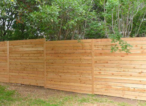 Horizontal Wood Fence Thin Pickets 8 Feet High Wood Fence