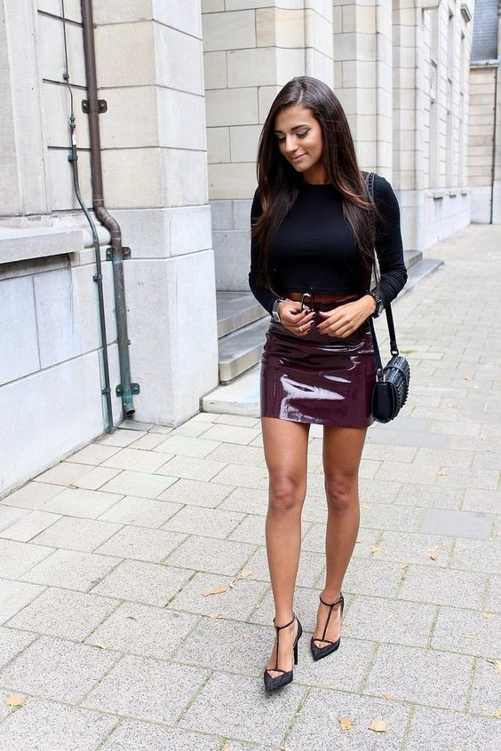 Leather mini skirt tumblr – Modern skirts blog for you