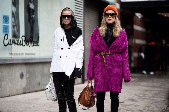 Annabel Rosendahl &Celine Aagaard, NYFW Street Style... COORDINATING is the new COMPETING... The future is friendly  {sheisme}