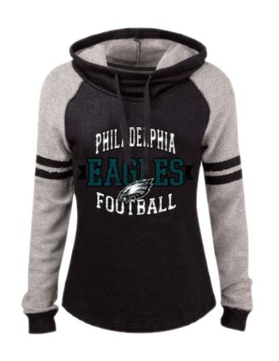 Women's 5th & Ocean by New Era Black Philadelphia Eagles Long Loop ...