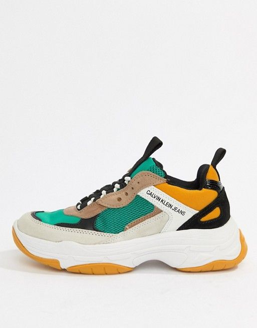 Calvin Klein Mint Multi Maya Mesh And Suede Fashion Sneakers Sneakers Men Fashion Trainers Fashion Sneakers Fashion