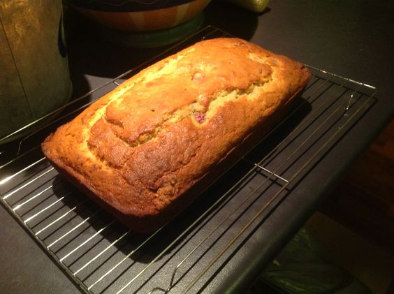 Banana and raspberry bread