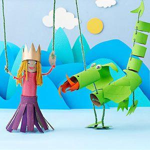 Princesa y dragón cartón