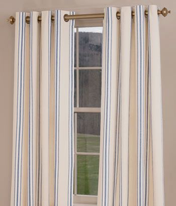 French Ticking Grommet-Top Curtains | For the Home | Pinterest ...