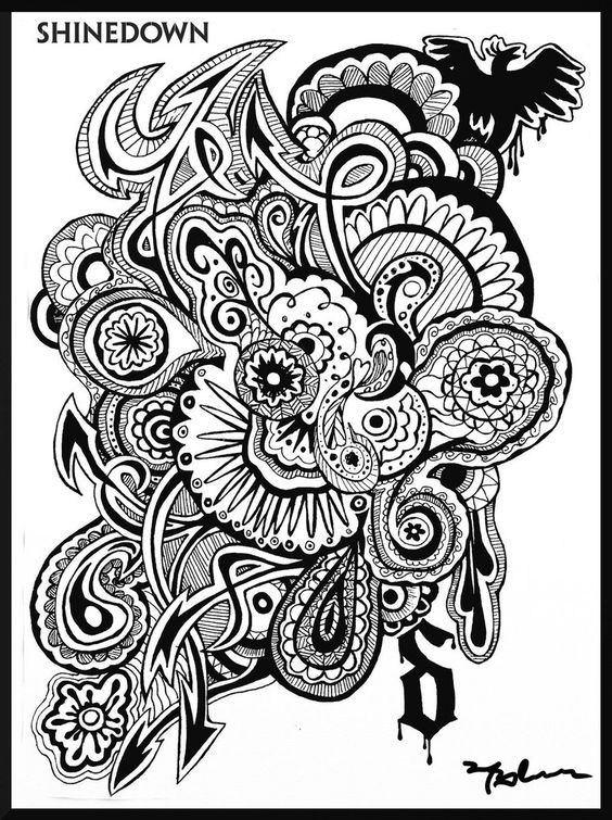 Rock And Roll Coloring Page Shinedown By Mariffa Coloring Pages