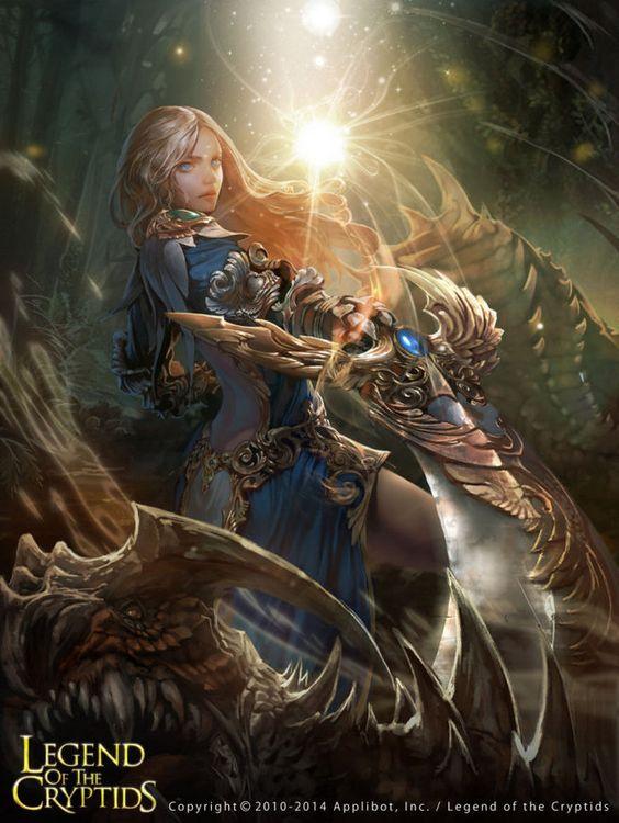 红色的黑猫采集到Legend of the Cryptids(829图)_花瓣插画/漫画