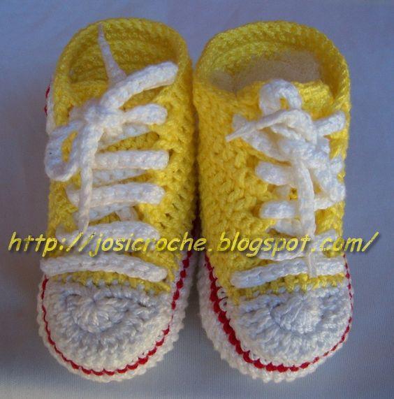 Josi Croche: Tênis All Star em croche.