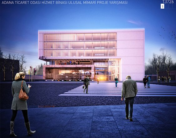 Adana Chamber Of Commerce  Building Architectural Competition 3.rd Prize