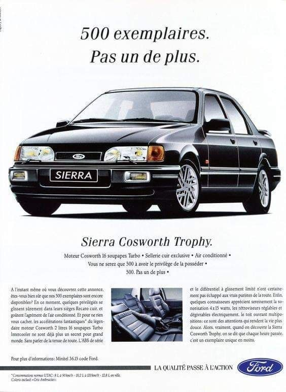 Ford Sierra Cosworth Advertising Coches Clasicos Coches Clasicos