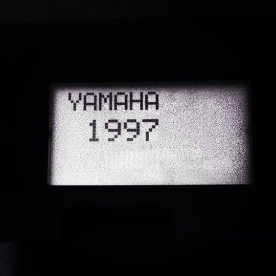 Yamaha An1x, 1997. (start display of my own one).