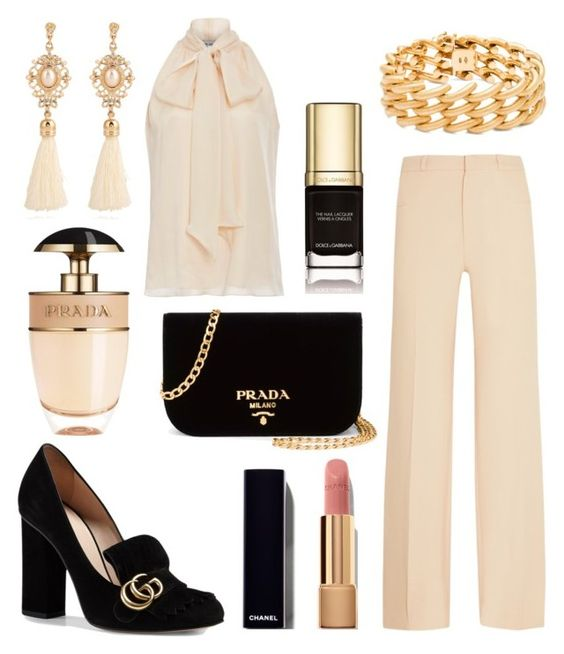 """""""346"""" by robertaelisa ❤ liked on Polyvore featuring Prada, Roland Mouret, Prabal Gurung, Gucci, Dolce&Gabbana, Chanel and Blue Nile"""