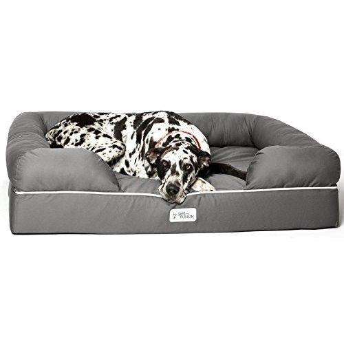 Xxlarge Dog Bed Grey Pet Nest Waterproof Memory Foam Rest Soft Cushion Comfort Jumbo Dog Bed Dog Bed Dog Lounge