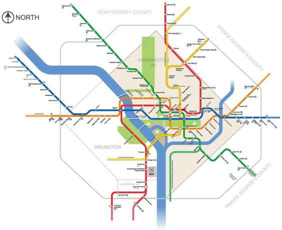 Washington Dc Metro Expansion Map W New Tunnels And Rerouted Lines By Alex Barclay Unofficial Plan Transit Pinterest Washington Dc