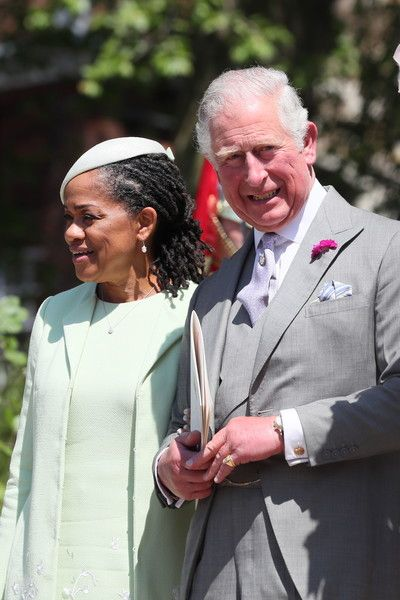 Doria Ragland, Megan Markle's mother and Prince Charles, Prince of Wales leave St George's Chapel at Windsor Castle following the wedding of Prince Harry to Meghan Markle on May 19, 2018 in Windsor, England.
