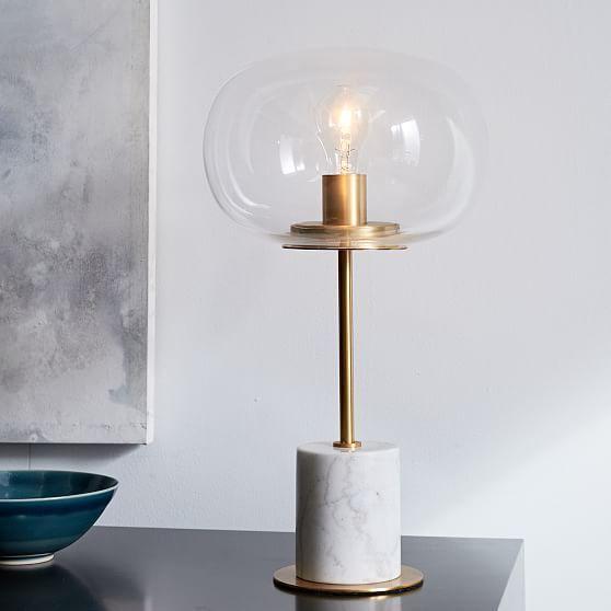 Sphere Stem Table Lamp Brass Brass Lamp Marbletable Sphere Stem Table Modern Table Lamp Led Table Lamp Brass Table Lamps