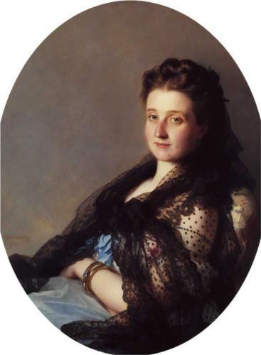 Portrait of a lady - Franz Xaver Winterhalter, 1872