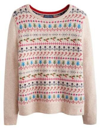 Pin for Later: Deck Yourself With Boughs of Holly For Christmas Jumper Season Joules Chrissie Women's Christmas Intarsia Jumper Joules Chrissie Women's Christmas Intarsia Jumper (£80)