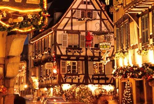 Christmas Market in Colmar, Alsace, France