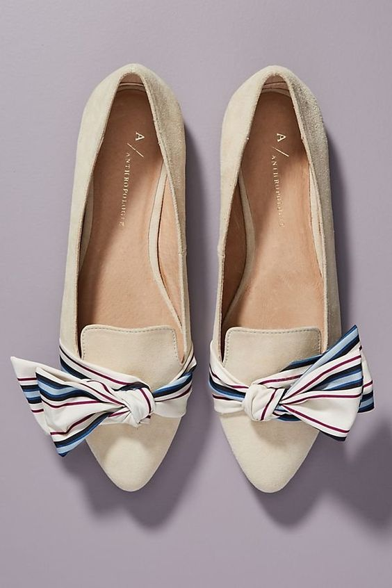 Anthropologie Alexandra Bow-Tied Flats | Anthropologie
