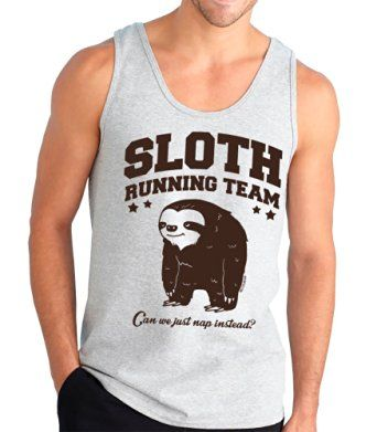 Sloth Running Team. Can We Just Nap Instead? Funny Tank Top, Silver, Medium *Click image to check it out* (affiliate link)