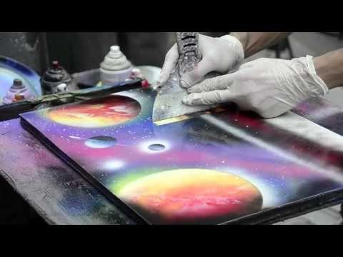Cómo pintar una galaxia con acuarelas - Arte Divierte. - YouTube