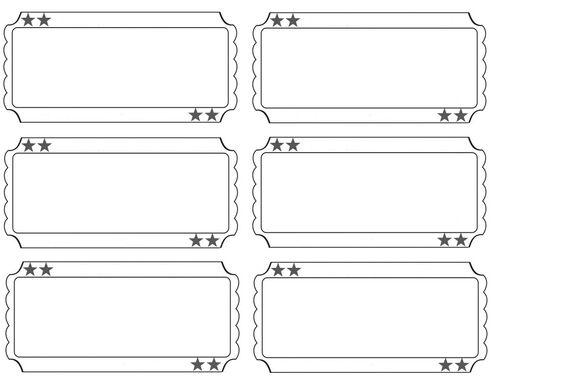 blank raffle tickets printable