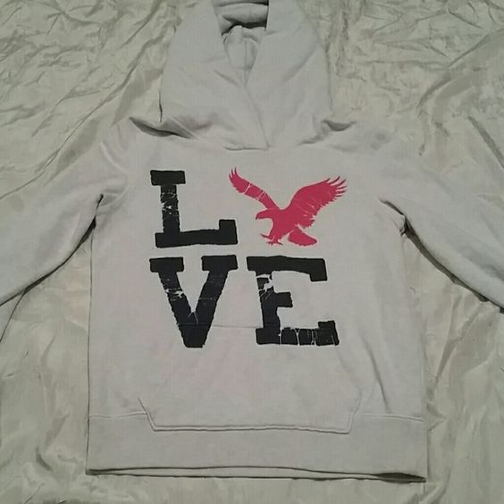 American Eagle hoodie Great condition, one tiny stain as pictured. American Eagle Outfitters Tops Sweatshirts & Hoodies