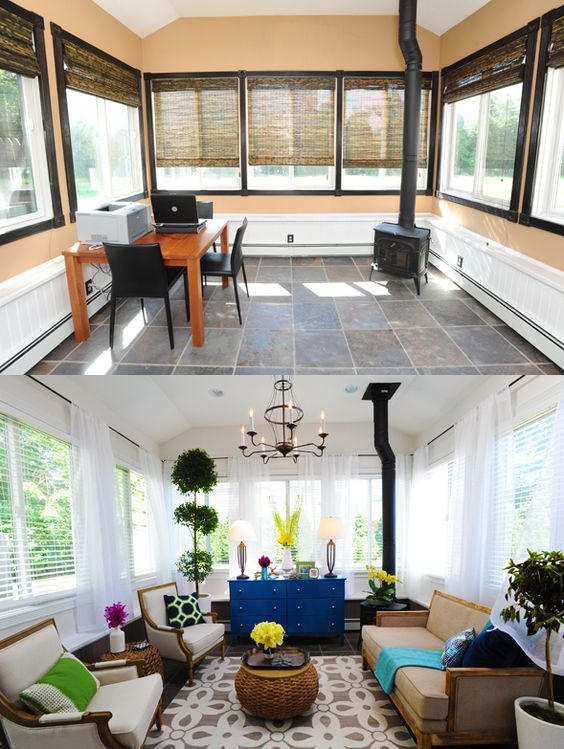 Awesome transformation sabrina soto high low project - Hgtv before and after living rooms ...