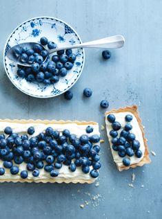 Blueberry and lemon mascarpone tart by Donna Hay.