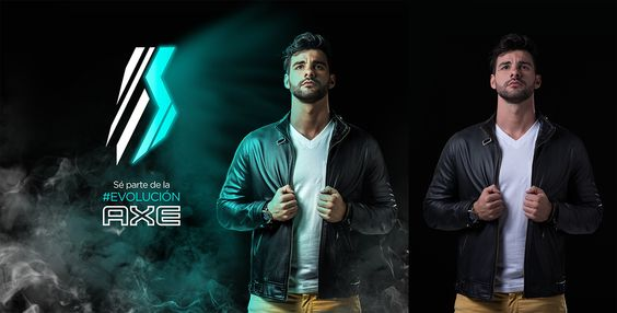 Retoque e iluminación para Axe on Behance