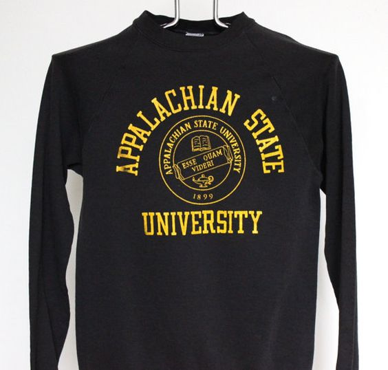 Appalachian State University Raglan Sweatshirt by beachwolfvintage