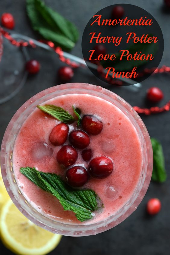 Amortentia - Harry Potter Love Potion Punch - Valentine's Day Special - Cookilicious - Amortentia is the most powerful love potion in existence. My version is non alchoholic, fruit based & delicious. It's Harry Potter's Valentine's Day Special!