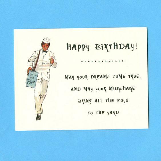 Milkshake Birthday Card – Strange Birthday Greetings