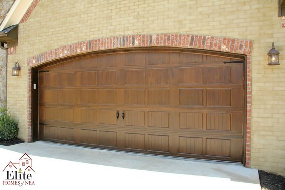 Garage doors garage and doors on pinterest for Painting garage door to look like wood