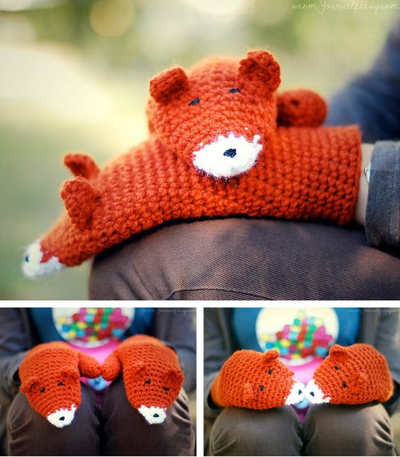 crochet fox mittens: Crochet Mittens Kids,  Teddy Bear, Crochet Mittens For Kids, Kids Crochet Mittens, Crochet Kids Mittens, Crochet Animal Mittens, Crochet Gloves For Kids, Crochet Fox Mittens, Baby Mittens Crochet
