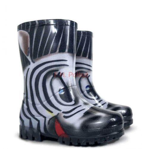 Kalosze Dzieciece Zebra Gumiaki Dla Dzieci Gumowce Demar Twister Print S 20 27 Boots Wellington Boot Rain Boots