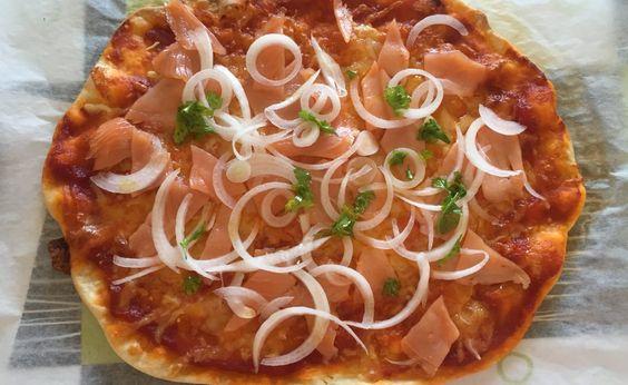 Pizza Casera Salmón
